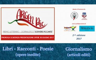 Premio ArgenPic – Proroga al 30 Giugno per scadenza presentazione opere – Qui Regolamento